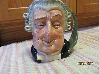 """Royal Doulton The Lawyer D6498Toby Mug Jug COPR 1958 Large 8"""" tall"""