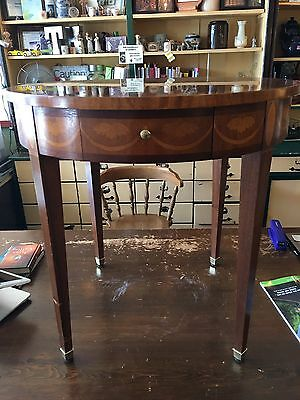 Baker Furniture inlaid side table