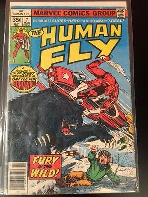 Human Fly 7 (1977 Marvel) lower grade