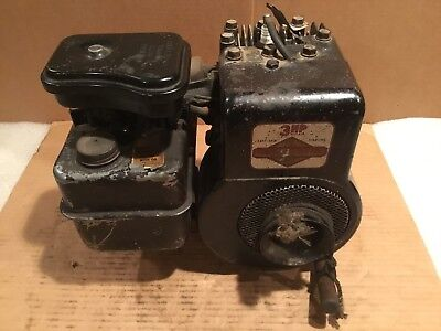 Vintage BRIGGS & STRATTON  80231 3HP 1965 Engine -Tested- Gas Small Engine