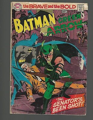 Brave And The Bold #85 1st New Green Arrow Costume