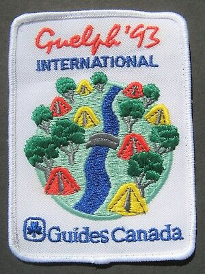 Girl Guides Canada  Guelph 1993 International Embroidered Patch Scouts Brownies