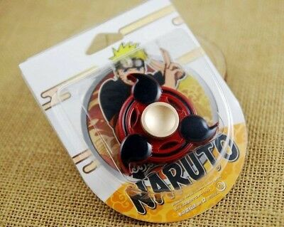 Naruto Shippuden Metal Sharingan Eye Fidge Spinner ADHD Hand Toys Anime