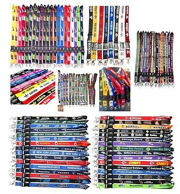 NBA NFL MLB Adidas Sports Nike Style Lanyard Neck Strap ID Badge Holder Keychain