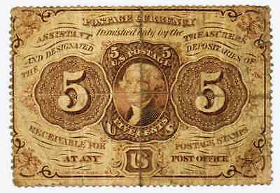Postal Currency 1St Issue 5 Cents  Fr#1229 - Vg
