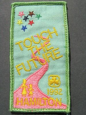 Girl Guides Canada 1992 Hamilton Ontario  Embroidered Patch Brownies