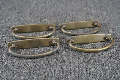 "Vintage Antiqued Brass 4.5"" Swivel Drawer Pulls Set Of 4"