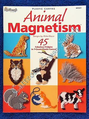 Plastic Canvas Pattern Animal Magnetism 45 Easy Kangaroo Cow Octopus Owl Koala