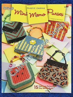 Plastic Canvas Pattern Mini Memo Purses Post-It Covers Quick & Easy