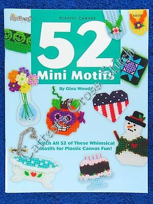 Plastic Canvas Pattern Mini Motifs 52 Designs Easy & Quick