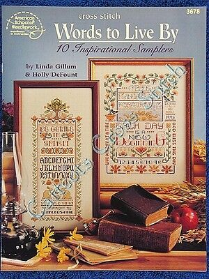 Cross Stitch Pattern Words To Live By Inspirational