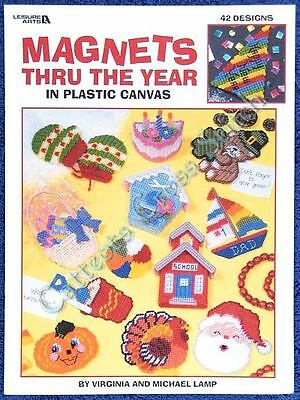 Plastic Canvas Pattern Magnets Thru The Year 42 Motifs
