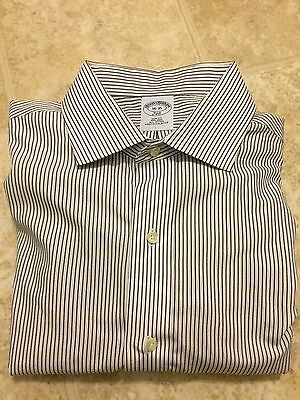Brooks Brothers Mens Slim Fit French Cuff 100% Cotton Dress Shirt Size 16 35
