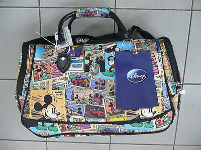 Disney - Cabin / Overnight Bag - Mickey Mouse Comic - Bnwt Rrp$89.00