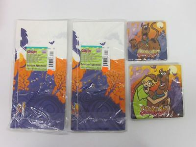 Lot (4) New Sealed Party Napkins Table Cover Cartoon Network Scooby-Doo! bv1668