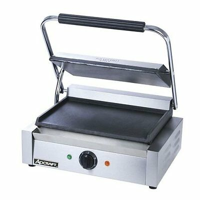 Adcraft SG-811E/F Panini grill with Flat Plates, 13.25-Inch x 9.25-Inch 120 Volt