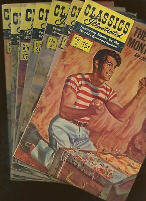 Classics Illustrated 3,5,10,26,83,104,138 * 7 Book Lot * Jules Verne! Moby Dick!