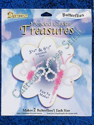 Bead Kit Pink Butterflies Makes 2 Butterfly Beaded Garden Treasures