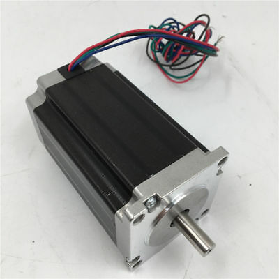 Nema23 Stepper Motor 12V 3A 2.8Nm 4-lead 112mm D=8 for CNC Router Cutter Machine