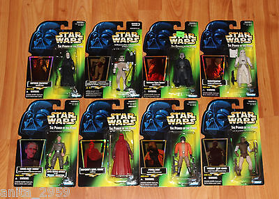 1996-97 Star Wars Power of the Force Collection 3 Figure SET of 8 NEW