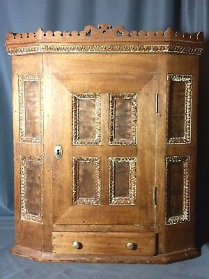 Antique 19th C. Small Hanging Corner Cupboard