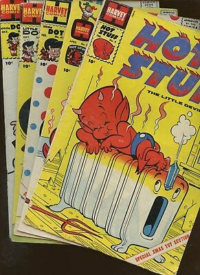 Hot Stuff Little Devil 9,34 Little Dot 41,48,49 ~ 5 Book Lot * Harvey Comics!!!