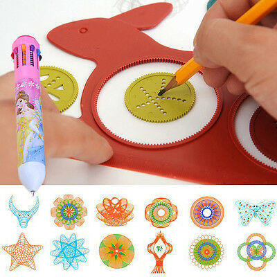 Funny Spirograph Set Turtle Rabbit Sketchpad Kids Drawing Ruler Educational Toys