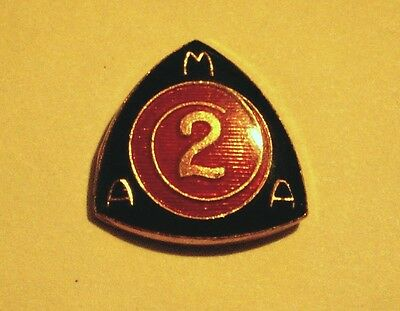 Vintage AMA American Motorcyclist AssociationTWO YEAR MEMBER Lapel Pin OLDER