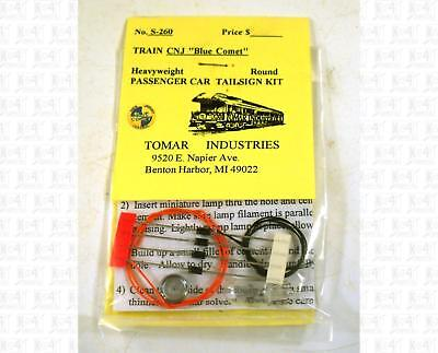 Tomar S Parts: Central New Jersey Blue Comet Passenger Car Drumhead Kit S-260