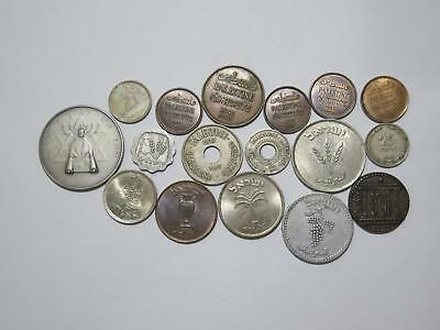 Israel Palestine Mils Prutah Sheqel Lira Argot Silver Medal Old Coin Collection