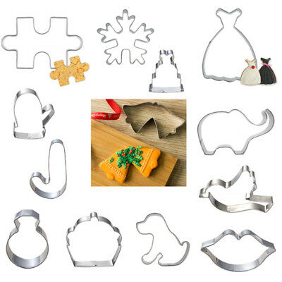 New Set Christmas Stainless Steel Biscuit Pastry Cake Decor Mold Cookie Cutter