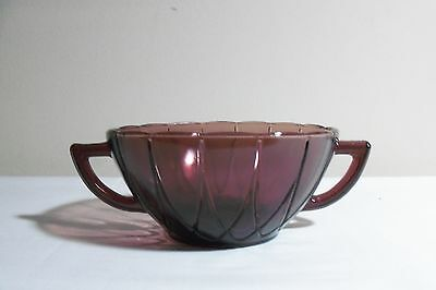 Amethyst Depression Glass Newport Cream Soup Bowl