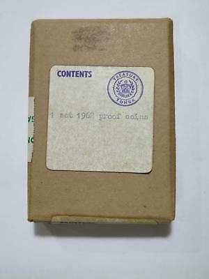 Tonga Paanga Senti 1968 8 Coin Proof Set **sealed Unopened** Old Collection Lot