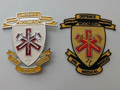 Australian Defence Industries Woomera Fire Medical Rescue Plaque Badge & Patch