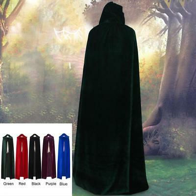 NEW Unisex Adult Witch Long Halloween Cloaks Hood and Capes Halloween Costumes