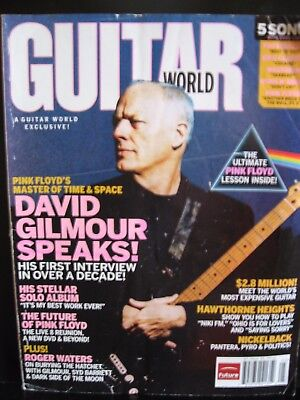 Guitar World Magazine May 2006 David Gilmour on the cover