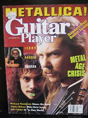 Guitar Player Magazine September 1991 Metallica on the cover