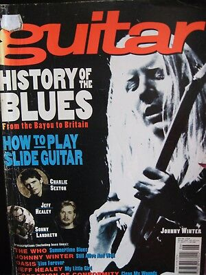 Guitar Magazine June 1995 Johnny Winter on the cover