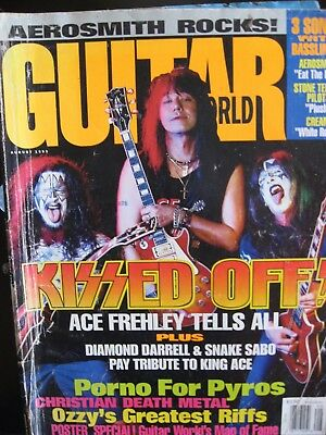 Guitar World Magazine August 1993 Kiss on the cover