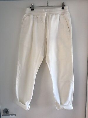 Seed Women's White Harem Trackie Pants Size 10 Excellent Condition