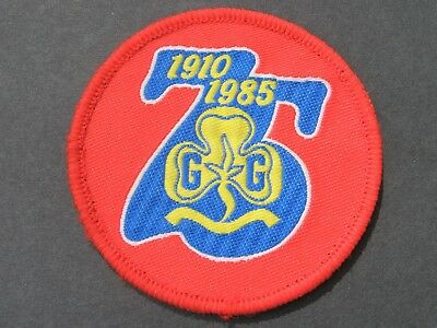 Girl Guides 75Th Anniversary Patch Brownies Scouts Britain United Kingdom