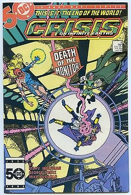 CRISIS ON INFINITE EARTHS #4 July 1985 VF+ 8.5 TEEN TITANS App OUTSIDERS DC