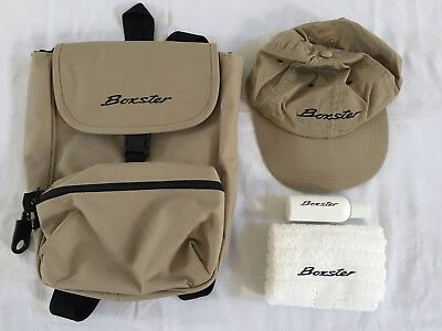 Porsche Boxster Press Launch Backpack with towel, cap and sunblock, unused