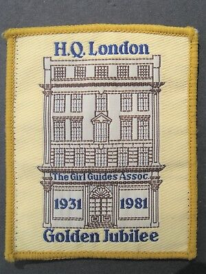 Girl Guides H.q. London Golden Jubilee 1981 Patch  Scouts Britain United Kingdom