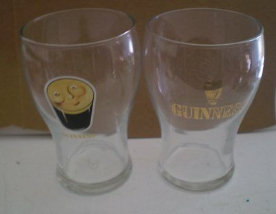 TWO large Guinness glasses - embossed