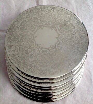 Set Of 8 Strachan 20Cm Strachan Silverplated Placemats