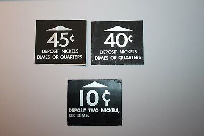 """""""deposit nickels dimes or quarters"""" decals and stickers"""