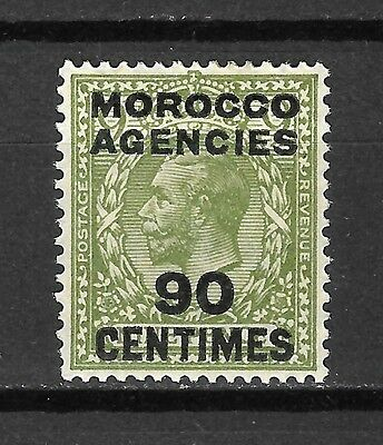 Great Britain Morocco Agencies Sc#420 LH 90c on 9p King George V