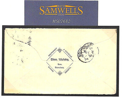 MS2682 1894 GB THEMATIC *Southport Canine Society*Squared Circle Cover DOGS Lanc