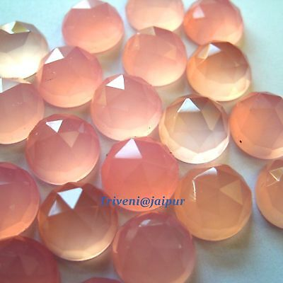 Top Quality 25 Pc Natural Rose chalcedony 7 MM Round Cut Loose Gemstone Lot